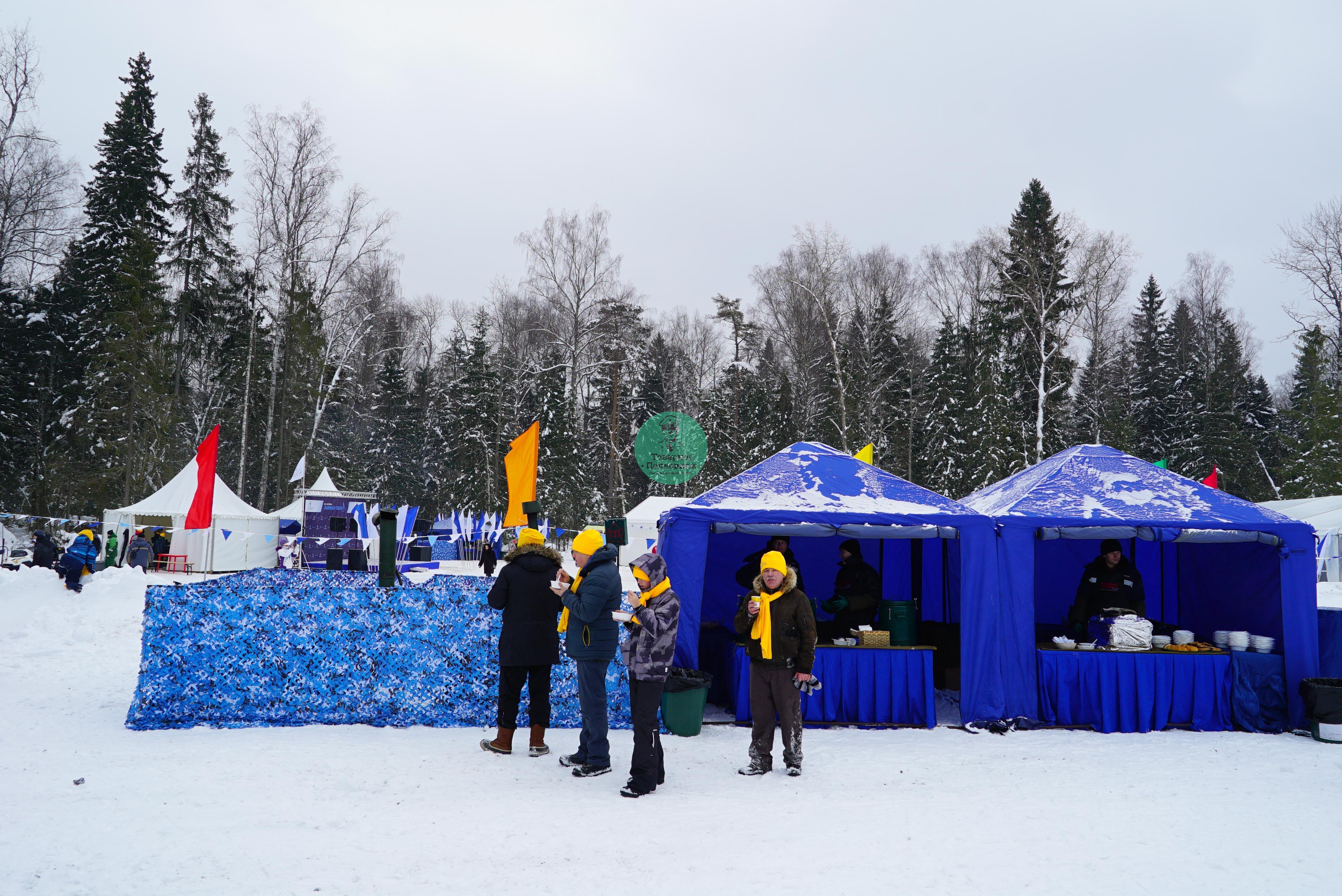 Полевые кухни на зимнем мероприятии