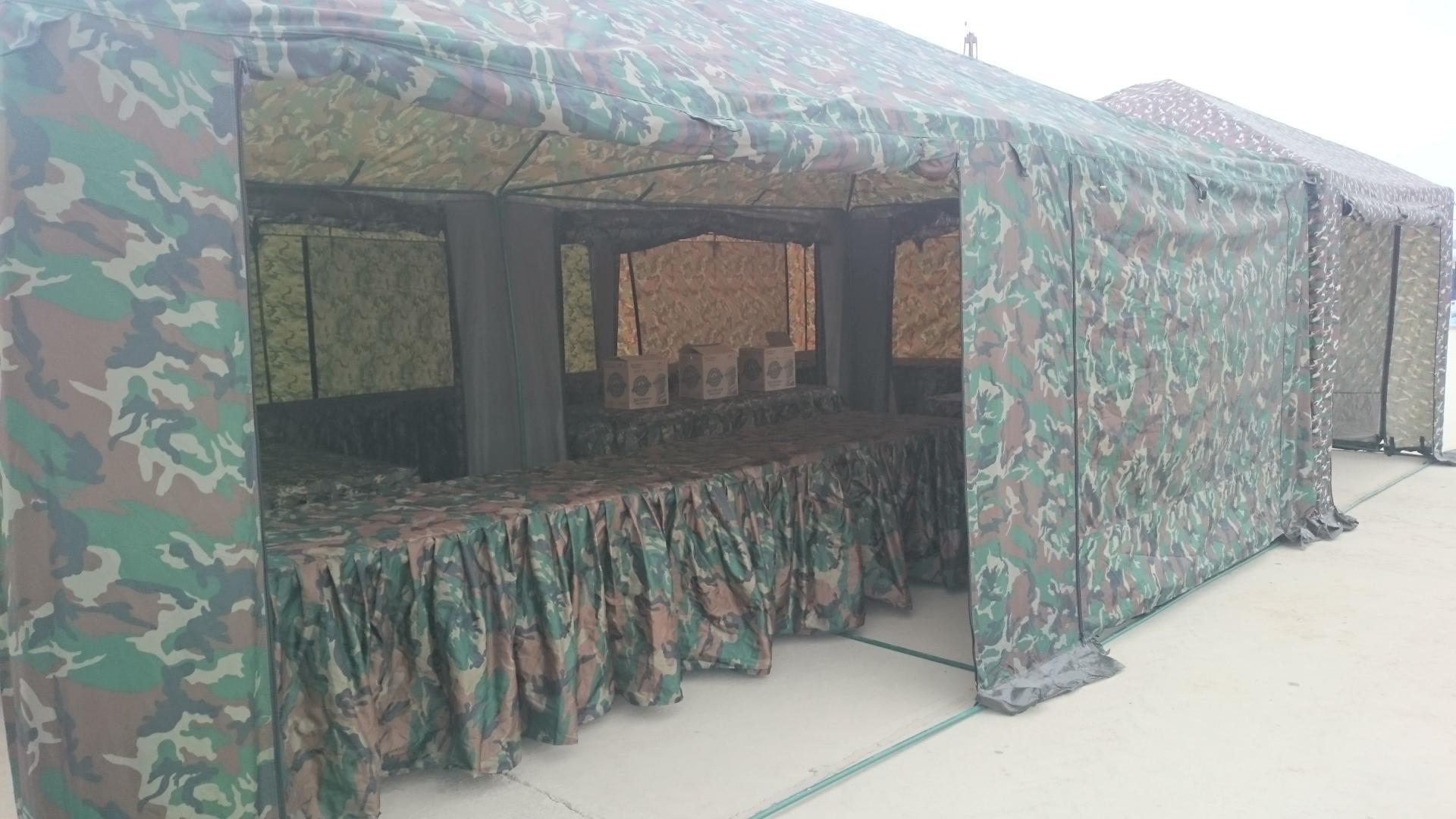 Аренда шатров милитари