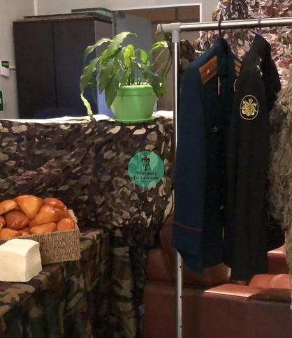 Полевая кухня в офисе в Москве. Военный кейтеринг