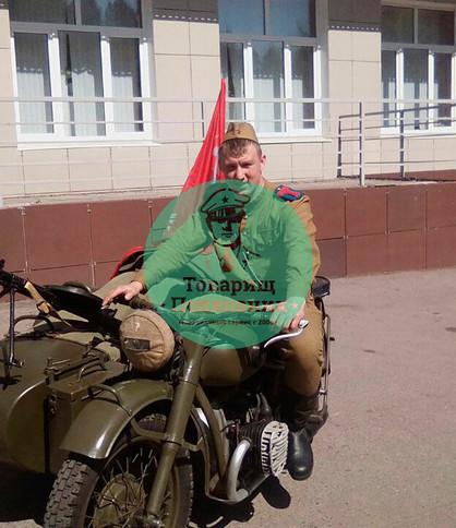 Военный мотоцикл на мероприятие