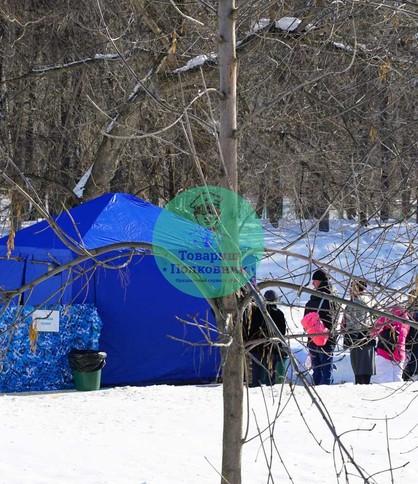 Аренда синей палатки