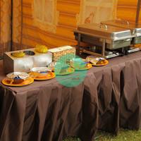 Текстиль для фуршетного стола «коричневый»